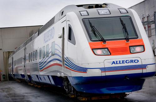 Скоростной поезд Санкт-Петербург - Хельсинки начинает движение в конце года