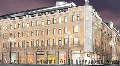 Финская компания Стокманн (Stockmann) завершает реконструкцию здания на углу Невского проспекта и улицы Восстания